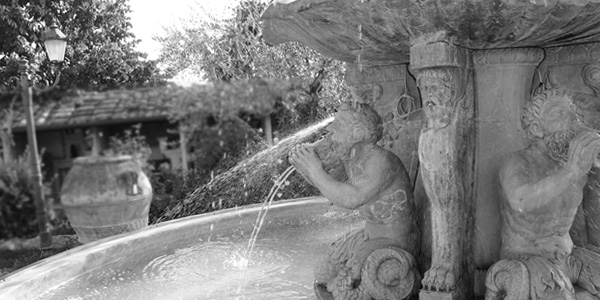 Antique fountains, stone sinks and sinks