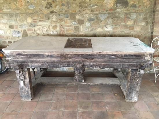 Tavoli Antichi Da Cucina Con Marmo.Banco Da Macellaio In Legno Con Piano In Marmo Ra Ma