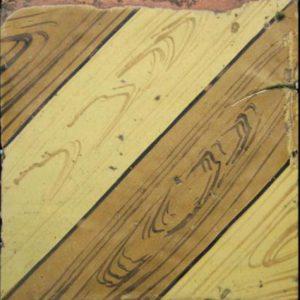 Maioliche italiane antiche decorate con motivi di finte assi in legno