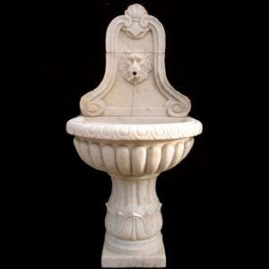 Fontana da giardino a muro in marmo