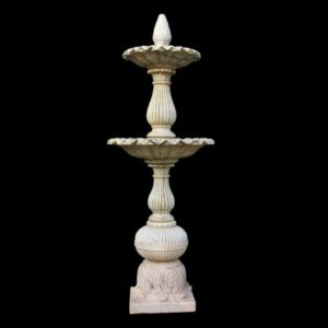 Fontana da giardino in marmo a due Vasche
