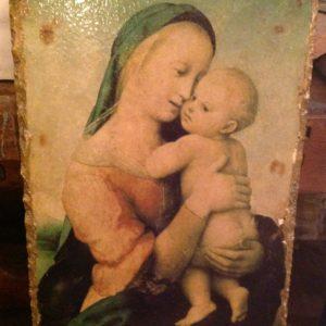 Madonna con Gesù Bambino su Travertino