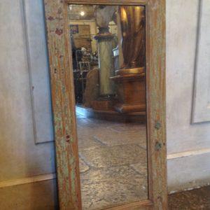 specchiera con cornice in legno