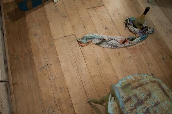 pavimento in legno di recupero