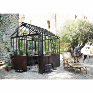 Serra in metallo effetto ruggine H 252 cm _ Greenhouses nel 2019 _ Decorazioni giardino, Serra e Arredamento creativo